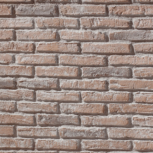 panelpiedra brick PR-566  ladrillo adobe clay whitewashed