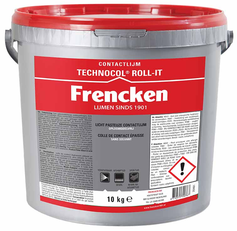 frencken contactlijm technocol roll-it watergedragen contactlijm
