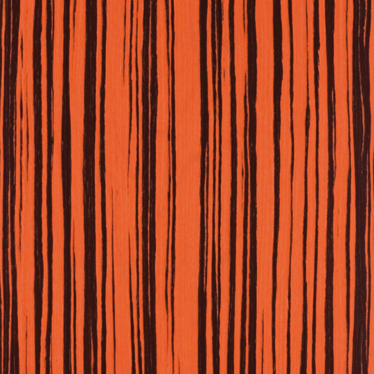 oberflex chic & pop orange pop zebrano satin